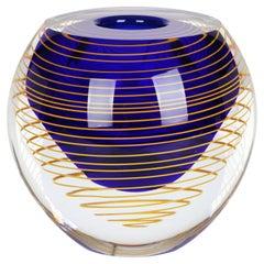 Stanislav Libensky Czech Art Glass Vase for Skrdlovice Glassworks