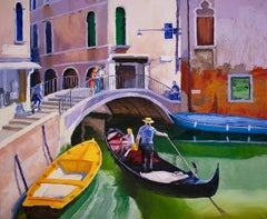 View of Venice, Oil Painting