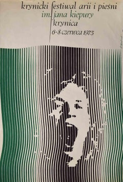 Krynica Festival - Original Offset Print by Stanislaw Kluczykowki - 1975