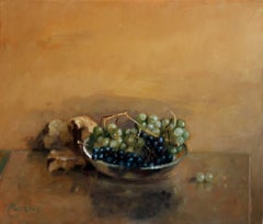 Grapes - XXI century, Contemporary Classical Oil Painting, Still life, Realistic