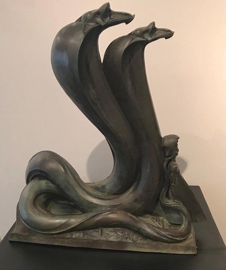 Stanislaw Szukalski Figurative Sculpture - The Prophet