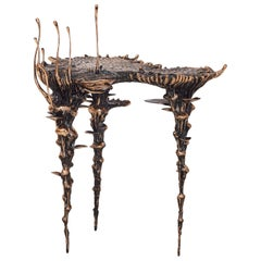 "Stanislaw Trzebinski, ""Extra Terrestrial"", Bronze Occasional Side-Table"