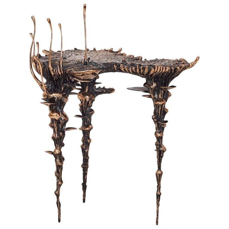 """Stanislaw Trzebinski, """"Extra Terrestrial"""", Bronze Occasional Side-Table For Sale"""