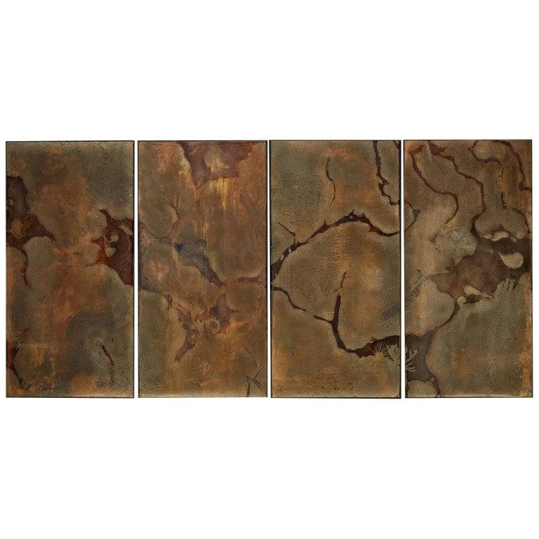 """Stanislaw Trzebinski, """"Halio Archeopetro"""", Etched Brass Wall Art For Sale"""