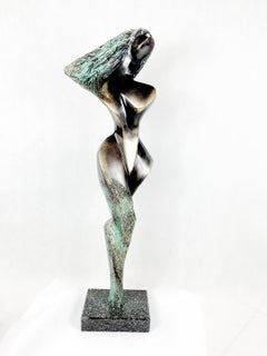 A lady - 21st century Contemporary bronze sculpture, Abstract & figurative