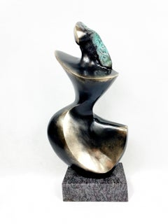 A woman - 21st century Contemporary bronze sculpture, Abstract & figurative