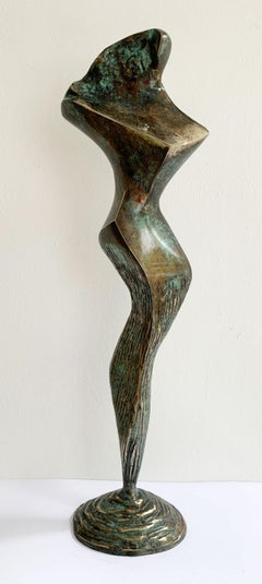 Dame I - XXI century Contemporary bronze sculpture, Abstract & figurative