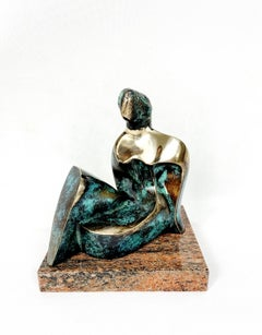 Her - 21st century Contemporary bronze sculpture, Abstract & figurative