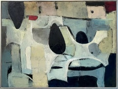 """""""Blue Monday,"""" 1960s Modern Abstract Painting"""