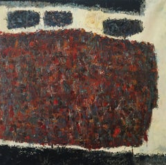 """Morat"", Large 1960's Mid-Century Modern Estate Textured Abstract Oil Painting"