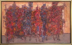 """""""New Orleans,"""" 1960s Modern Abstract Painting"""
