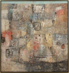 """""""Picos,"""" 1970s Modern Abstract Painting"""