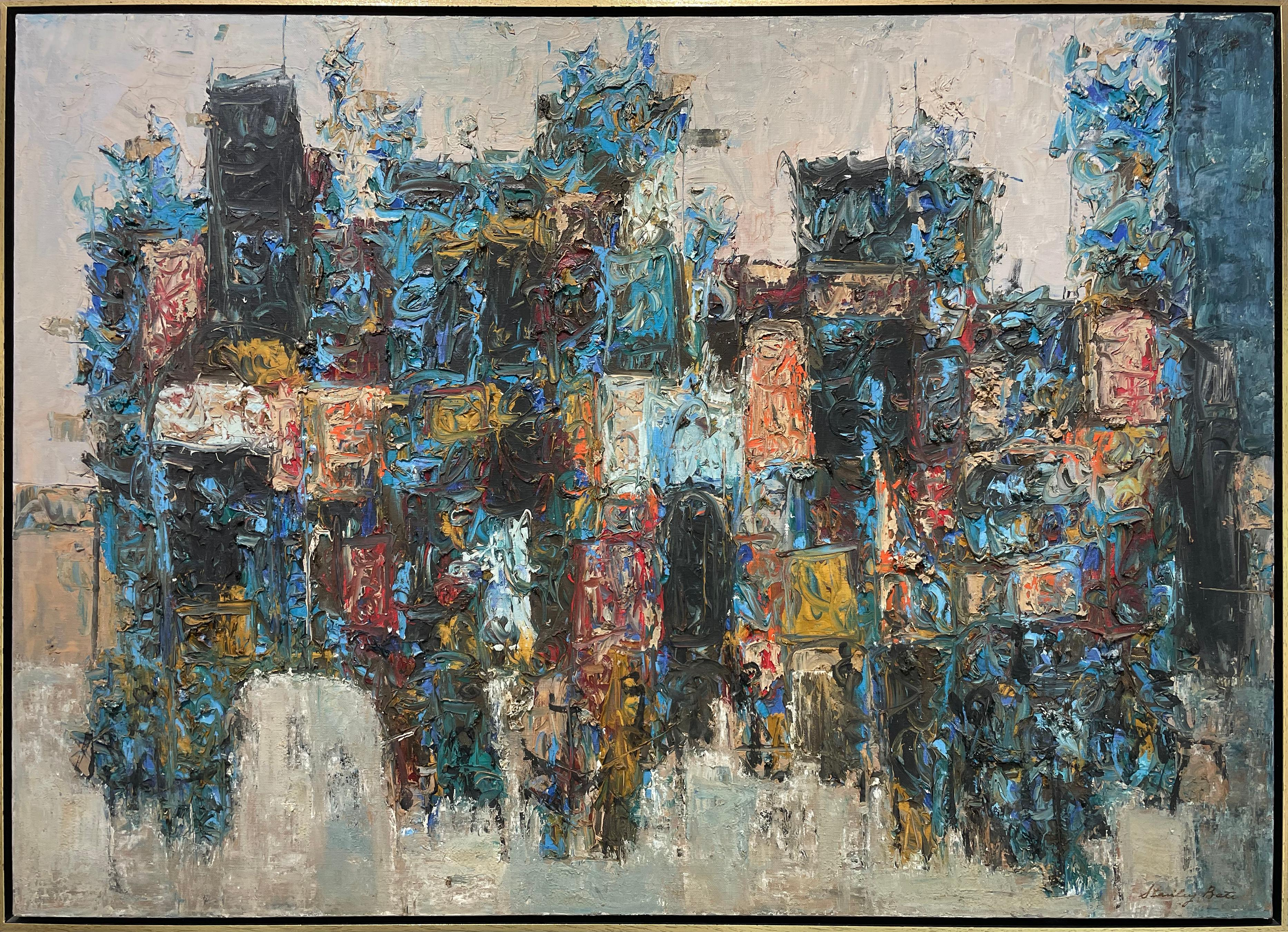 """""""Ruins of Athens,"""" 1960s Modern Abstract Painting"""
