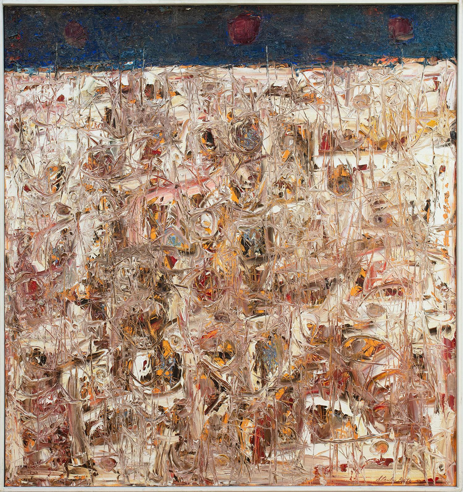 """""""Spring Thaw,"""" 1960s Modern Abstract Painting"""