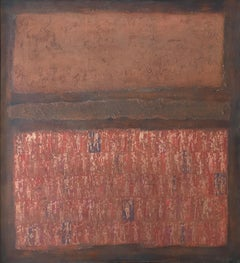 """Untitled"", 1960's Mid-Century Modern Rothko-inspired Abstract Oil Painting"