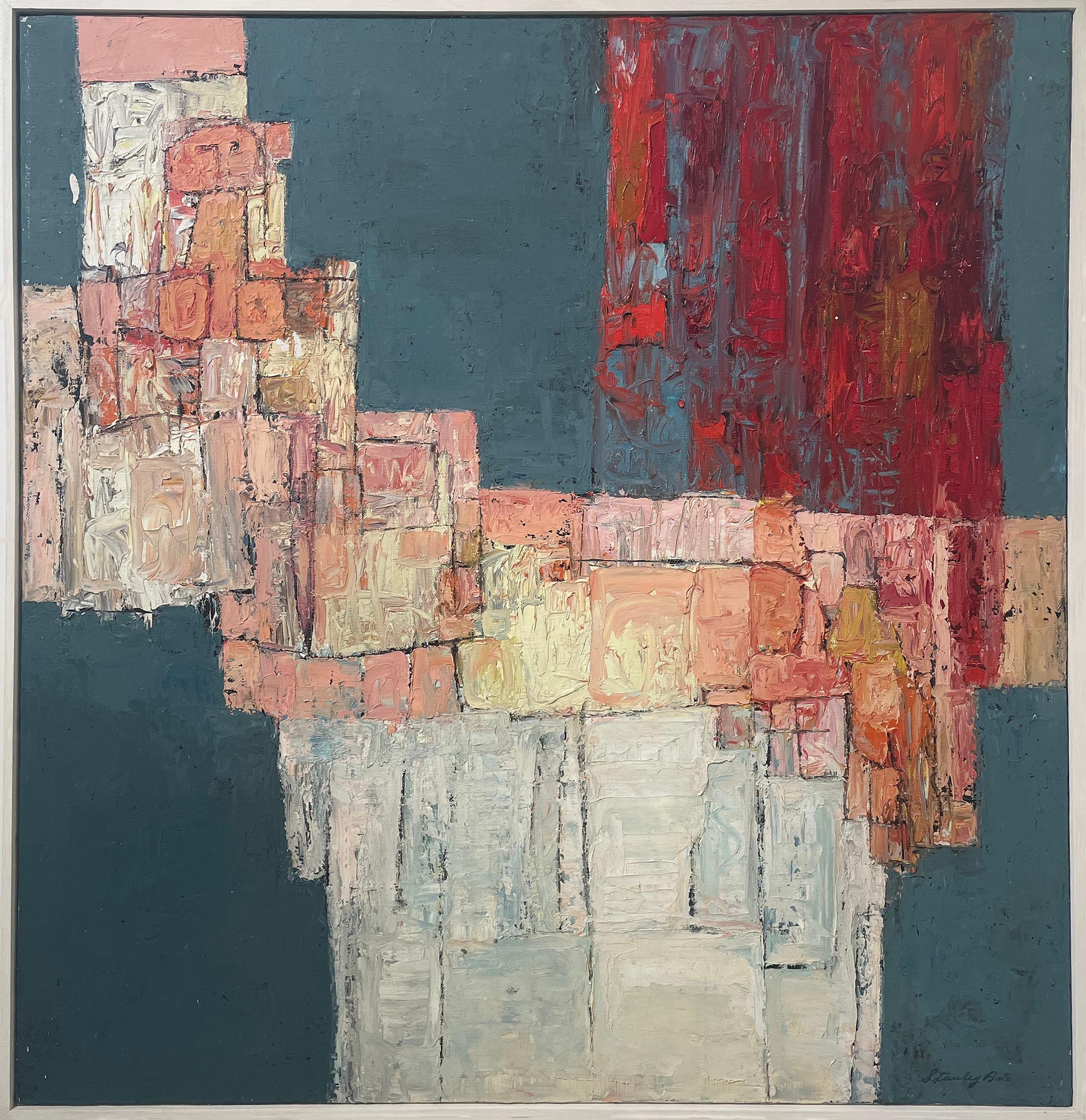 """Urbino,"" 1960s Modern Abstract Painting"