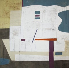 """Zuen,"" 1960s Modern Abstract Painting"