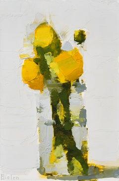 "Stanley Bielen ""Aglow"" -- Framed Still Life Oil Painting"