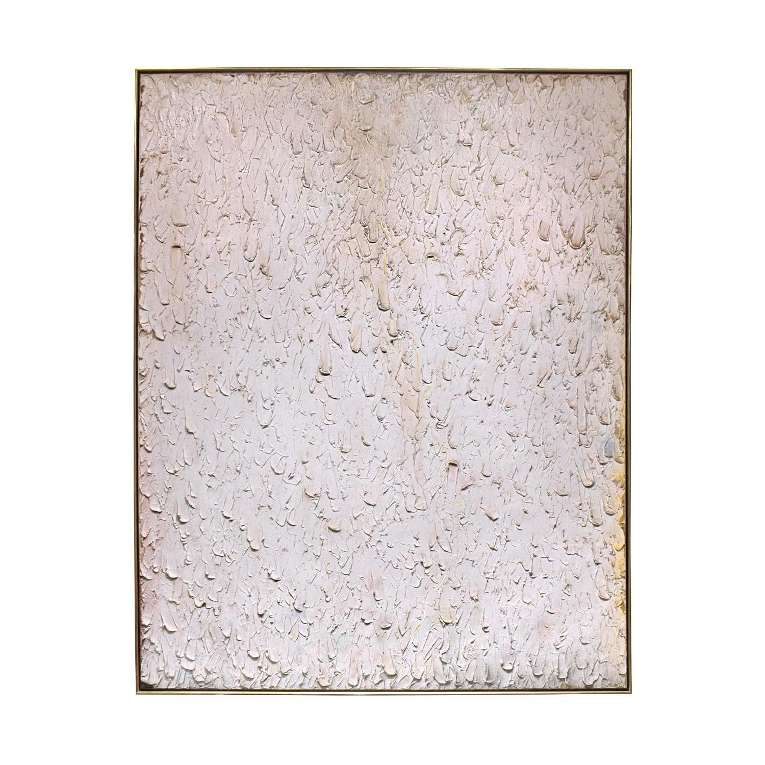 Stanley Boxer Large Textural Oil on Linen, 1980