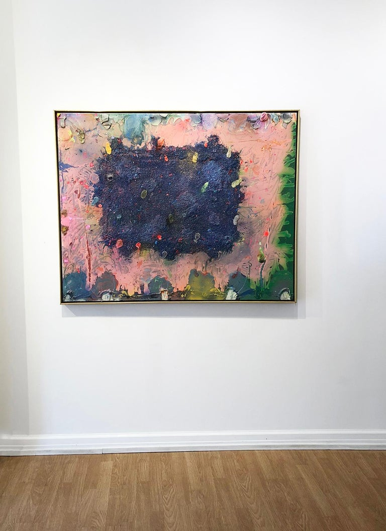 Alcamorispettounquarried - Black Abstract Painting by Stanley Boxer