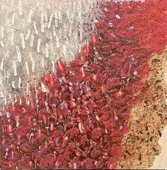 Mixed media, oil painting, Stanley Boxer, Hitze (Heat)