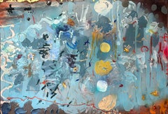 Mixed media, oil painting, Stanley Boxer, Plainsroartenderly