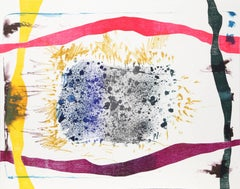 Abstract Etching and Woodcut by Stanely Boxer