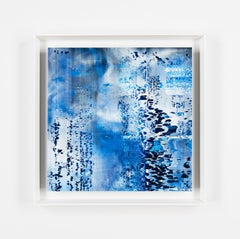 """Noise Moment 1-6"", abstract art, blue, cold ones, richter like, contemporary"
