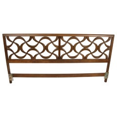 "Stanley Furniture ""Theme II"" Line, Midcentury Sculptural King Size Headboard"