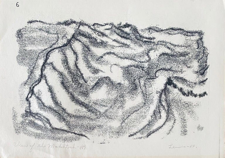 """Stanley Lewis Abstract Print - """"View Of The Makhtesh"""" from Wanderers Illustrations 112/225"""