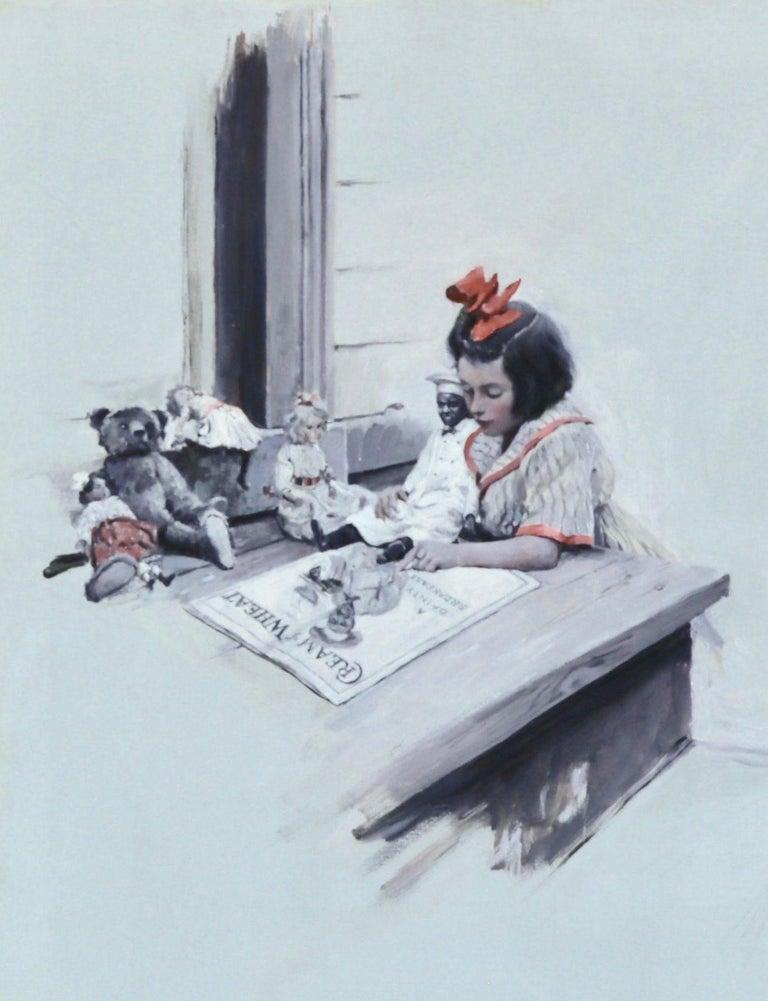Stanley Massey Arthurs Figurative Painting - Cream of Wheat Advertisement