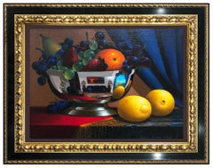 Stanley Maxwell Brice Original Oil Painting On Canvas Signed Still Life Food Art