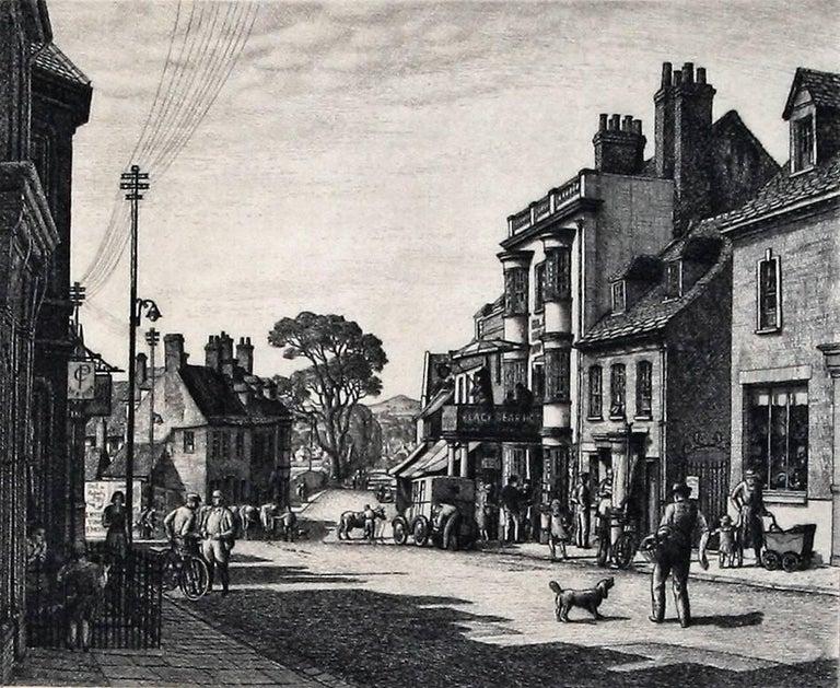 Stanley Roy Badmin, R.W.S, R.E., A.I.A., F.S.I.A. Figurative Print - Wareham, Dorset