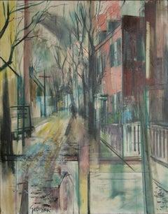 City Street, Oil Painting by Stanley Sobossek