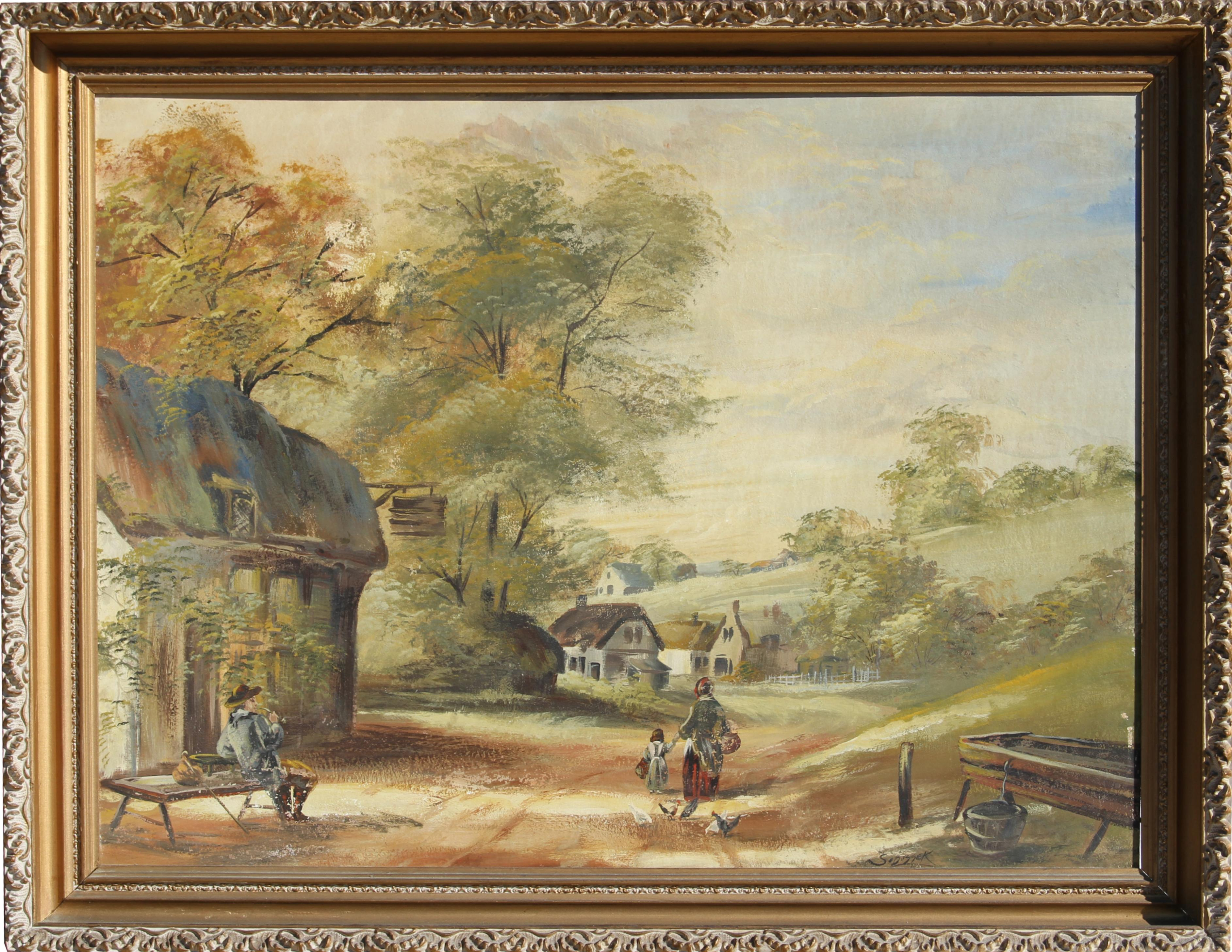 Country Landscape, Oil Painting by Stanley Sobossek