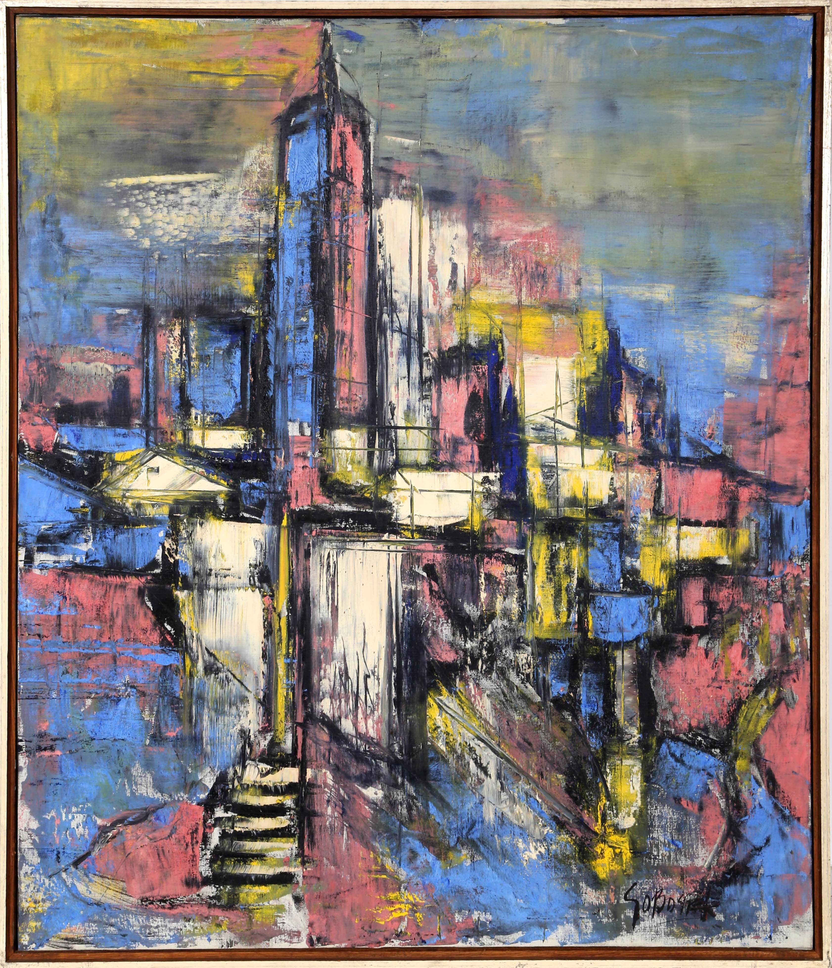 New York City, Oil Painting by Stanley Sobossek