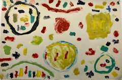 """""""Untitled D"""", painterly abstract monoprint."""