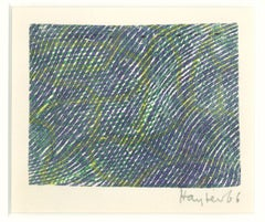 Composition - Original Lithograph by S.W. Hayter - 1966