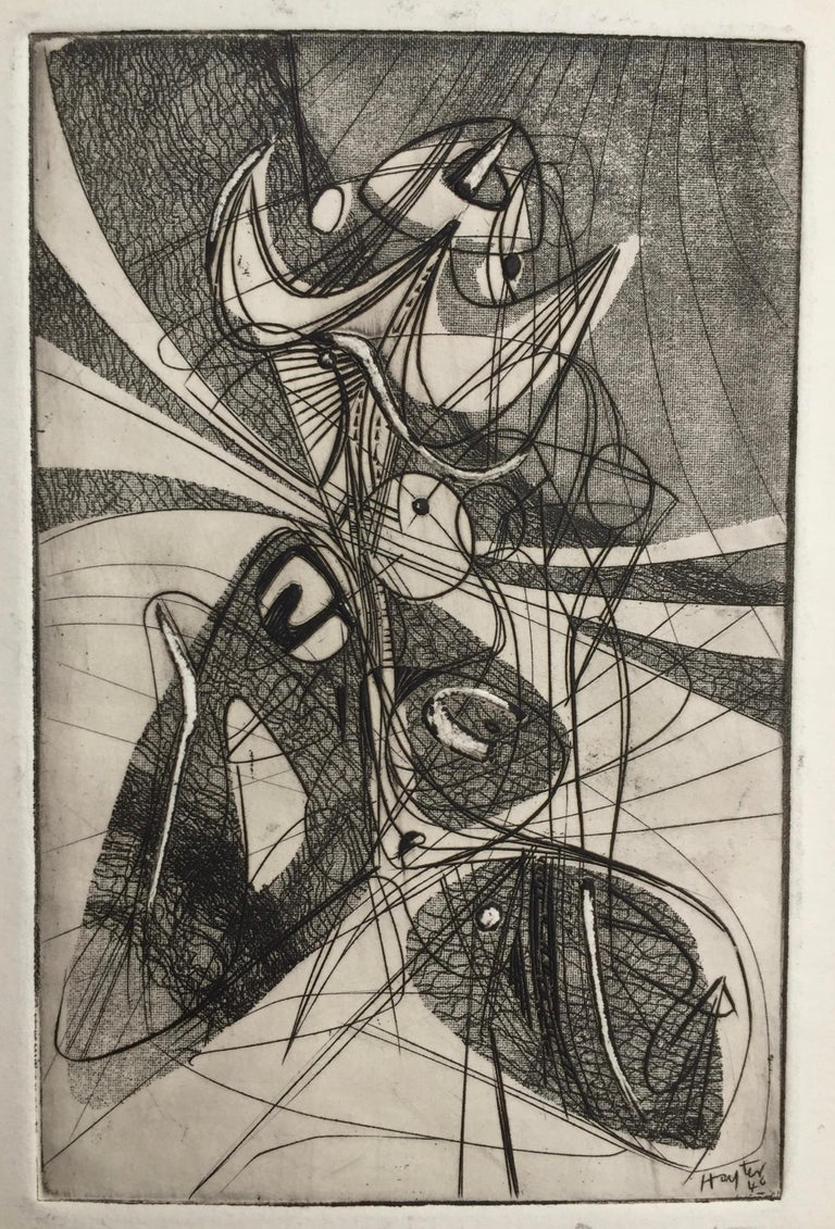 Greeting Card for 1946-7 - Print by Stanley William Hayter