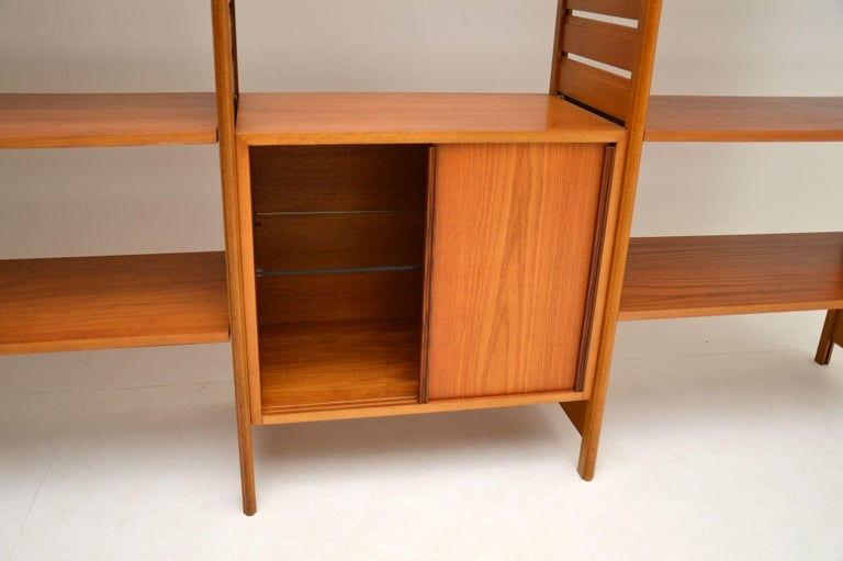 Staples Ladderax Vintage Bookcase / Cabinet / Room Divider in Teak 4