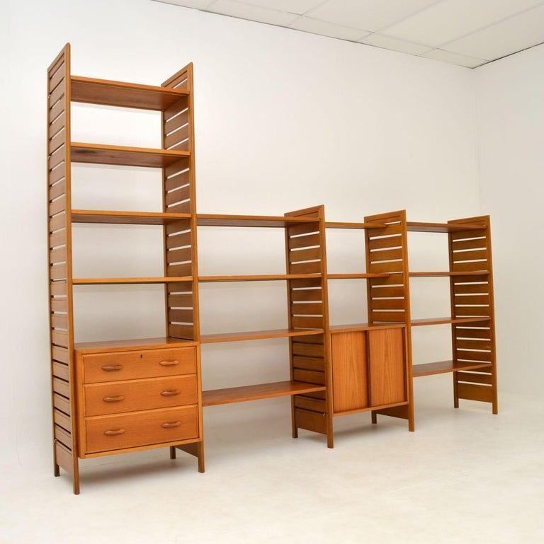 Staples Ladderax Vintage Bookcase / Cabinet / Room Divider in Teak 5