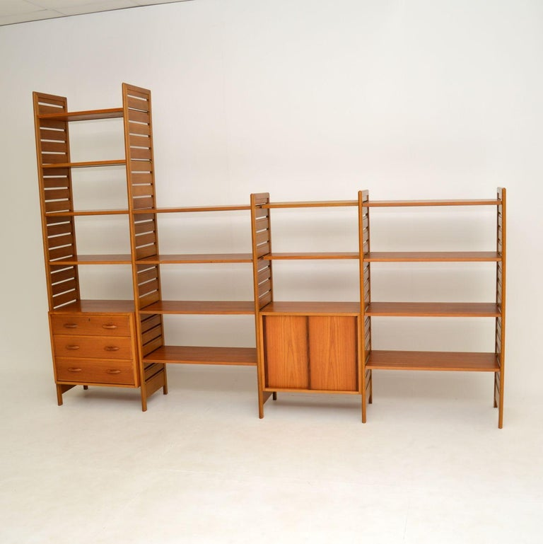 Mid-Century Modern Staples Ladderax Vintage Bookcase / Cabinet / Room Divider in Teak