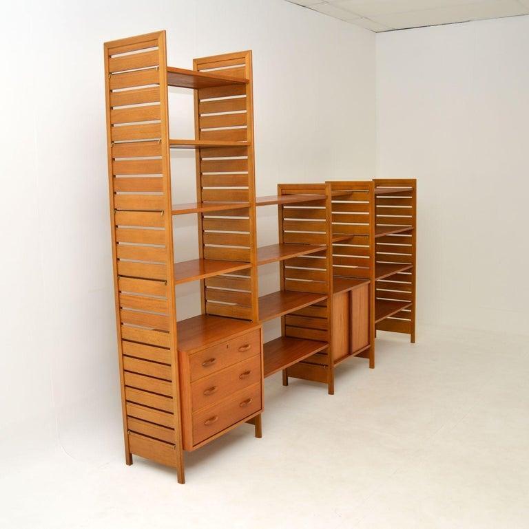 English Staples Ladderax Vintage Bookcase / Cabinet / Room Divider in Teak