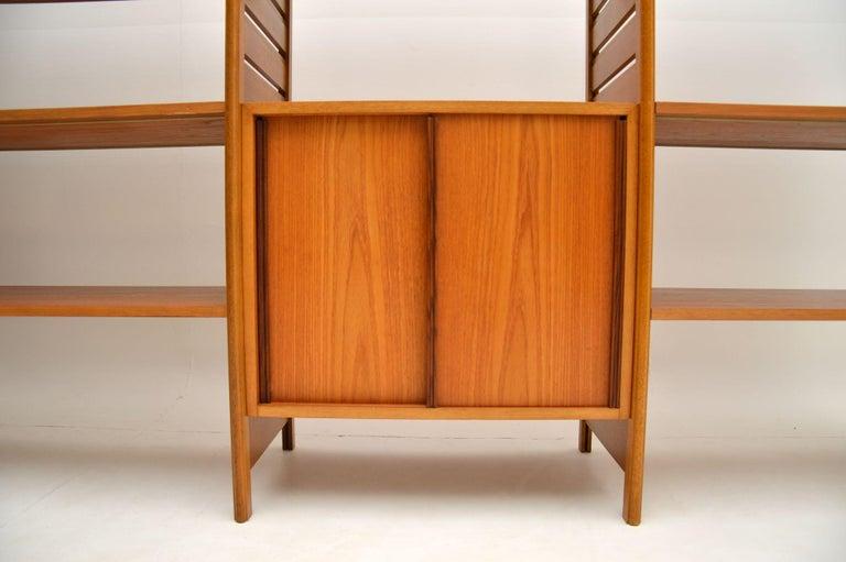 20th Century Staples Ladderax Vintage Bookcase / Cabinet / Room Divider in Teak