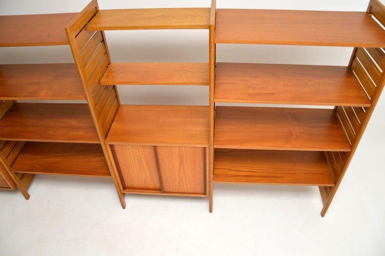 Staples Ladderax Vintage Bookcase / Cabinet / Room Divider in Teak 1