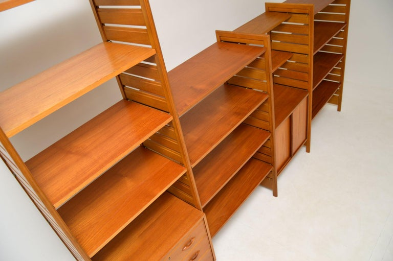 Staples Ladderax Vintage Bookcase / Cabinet / Room Divider in Teak 2