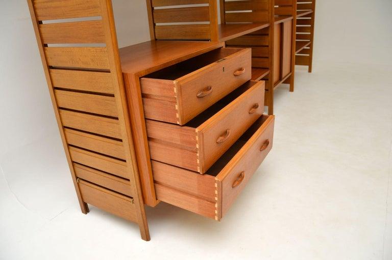 Staples Ladderax Vintage Bookcase / Cabinet / Room Divider in Teak 3