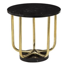 Star 1 Side Table with Marquina Marble