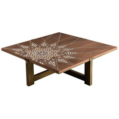 Star Arabesque Table, Modern Oriental Coffee Table with Mother-of-Pearl Inlay