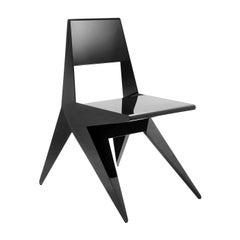 Star Black Chair by Antonio Pio Saracino